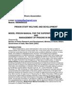 PRISON STAFF-  WELFARE AND DEVELOPMENT