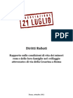 Rapporto Diritti Rubati - 17 settembre 2012