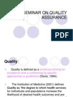 Seminar on Quality Assurance