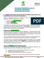 Protocolo actuación ACCIDENTE DEPORTIVO 12-13