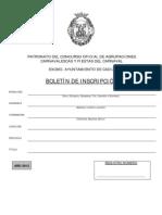 [COAC 2013] Boletín de inscripción / Documento intervención municipal