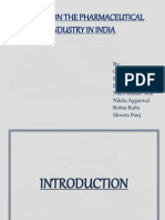 A Study on the Pharmaceutical Industry in India