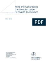 Core Content and Concretised Goals in the Swedish Upper Secondary English Curriculum
