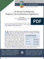 CFC Afg Budgetary Decentralisation Sept11