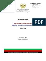 1391 93 Pre Budget Framework
