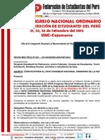 Convocatoria Al Xxvii Congreso de La Fep