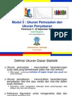 Pengantar Statistik Sosial Pertemuan3 Modul3 (20120923)