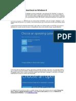 Configurações de dual-boot no Windows 8