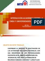 HUGO MARTIN ATOMICA CORDOBA INTERACCION CNEA UNIVERSIDADES CORDOBESAS