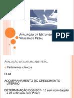 [Obstetrícia] Vitalidade e Maturidade Fetal
