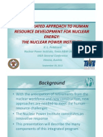 An Integrated Approach to Human Resource Development for Nuclear Energy