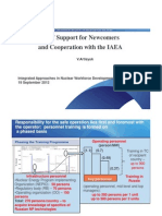 E&T Support for Newcomersand Cooperation with the IAEA
