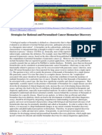 Strategies for Rational and Personalized Cancer Biomarker Discovery