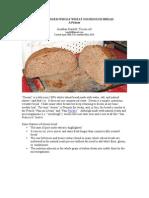 Desem Whole Wheat Sourdough Bread