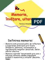 Memoria, învăţarea, uitarea