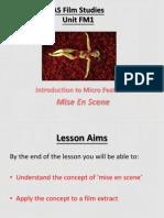 Film Studies - Mise-en-scene
