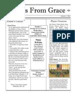 Grace Church Newsletter for October 2012
