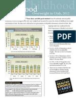 Childhood Overweight in Utah Report 2012