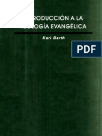 Karl Barth Introduccion a La Teologia Evangelica