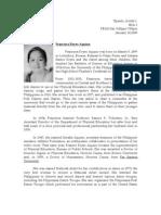 Francisca Aquino Was Born on March 9