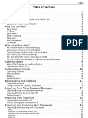 LastPass Manual