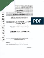 Skema Percubaan Geo2 STPM Terengganu 2012
