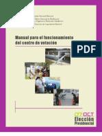 Manual para el funcionamiento del centro de votación