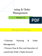 Session 12 Calendar Planning & Order Management