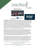 Qatar Foundation International / Granada HIlls Charter High School Press Release