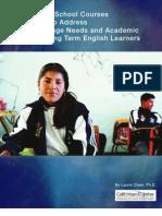 Secondary Schools LTEL Report