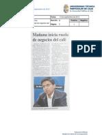 Informe de prensa semana del 14 al 21 de septiembre de 2012