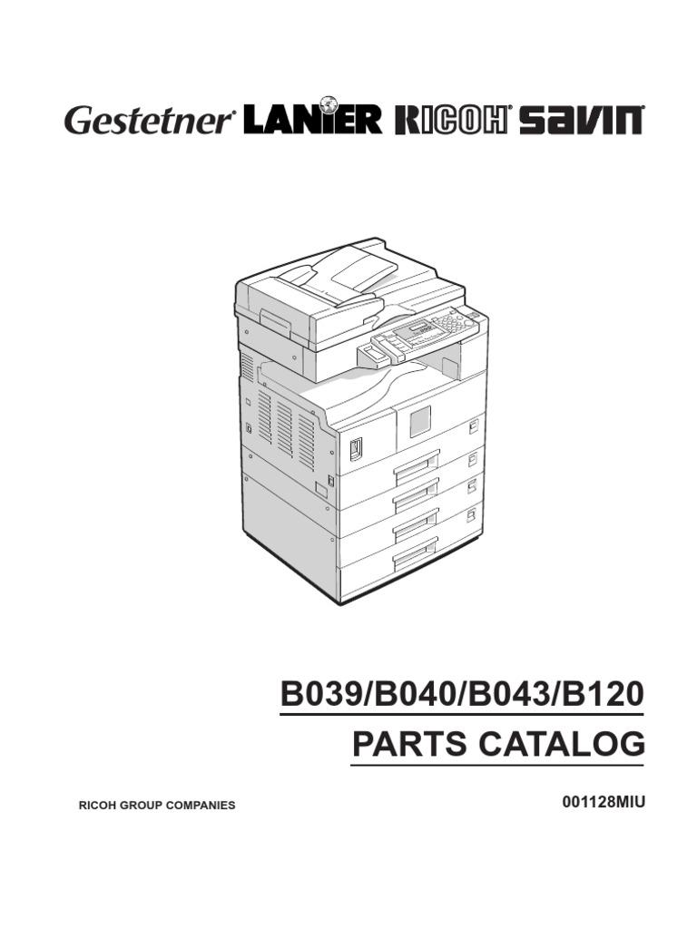 ricoh aficio 1015 service repair manual