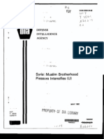 DIA Syria MuslimBrotherhoodPressureIntensifies