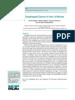 Risk Factors of Esophagus Cancer1