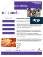 BBBS St. Catharines September 2012 Newsletter