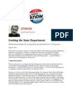 Gutting the State Department -- Foust
