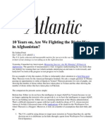 10 Years on Are We Fighting the Right War in Afghanistan -- Foust