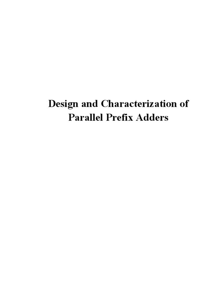 Parallel Prefix Adders Field Programmable Gate Array Hardware Adder Logic Diagram Kogge Stone 16 Bit Cmos Xor Circuit Description Language