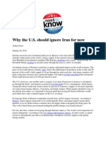 Why the US Should Ignore Iran for Now - Foust
