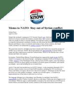 Memo to NATO - Foust