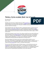 Turkey, Syria Escalate Their War of Words - Foust