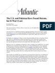 The US and Pakistan Have Found Detente, But It Won't Last - Foust