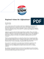 Regional Visions for Afghanistan's Future - Foust