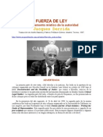Fuerza Deley Derrida