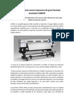 EPSON Presenta Nueva Impresora de Gran Formato SureColor S30670
