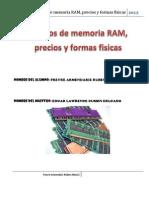 6.-Tipos de Memoria RAM, Precios y Formas Fisicas