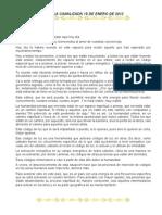 Charla Canalizada 15 de Enero Del 2012