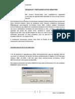 Como Hacer Backup y Restaurar Active Directory