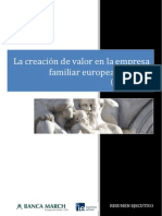 La Creacion de Valor en La Empresa Familiar Europea Cotizada 2001 2010