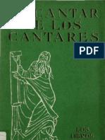 Alonso Schokel, Luis - El Cantar de Los Cantares